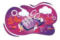 Riunione di consiglio di affari in ufficio, Teamworking royalty illustrazione gratis
