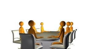 Riunione di consiglio di affari illustrazione di stock