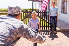 Riunione di famiglia militare Fotografie Stock Libere da Diritti