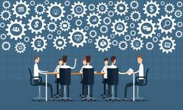 Riunione di lavoro di squadra di processo aziendale e concetto di lampo di genio Immagine Stock