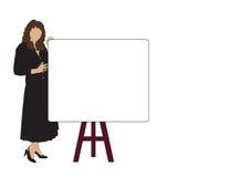 Riunione di vendite della donna royalty illustrazione gratis