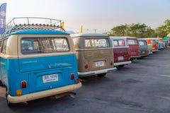 Riunione di VW van owners alla riunione del club di volkswagen immagini stock