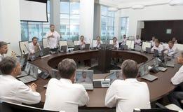 Riunione ed istruzione di discussione Riunione d'affari, conferenza Fotografia Stock Libera da Diritti