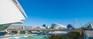 Riunione imminente di sera a L'hemispheric a Valencia, città delle arti e delle scienze Fotografia Stock