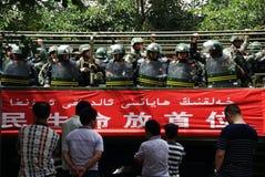 Riunione militare di Urumqi circa il Anti-terrorismo immagine stock libera da diritti