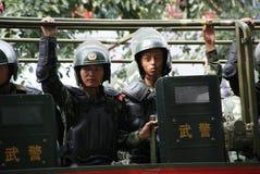 Riunione militare di Urumqi circa il Anti-terrorismo immagini stock