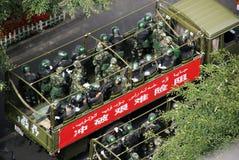 Riunione militare di Urumqi circa il Anti-terrorismo immagini stock libere da diritti