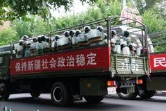 Riunione militare di Urumqi circa il Anti-terrorismo fotografie stock libere da diritti