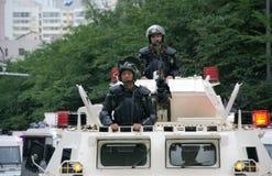 Riunione militare di Urumqi circa il Anti-terrorismo fotografia stock