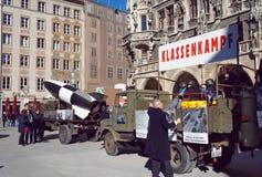 Riunione politica pacifista comunista a Monaco di Baviera Fotografie Stock Libere da Diritti