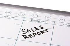 Riunione rapporto di vendite Immagine Stock