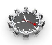 Riunione Tabella sotto forma di orologio illustrazione di stock