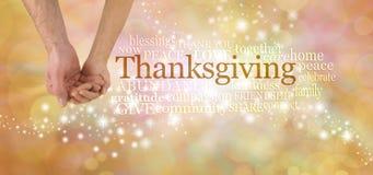 Riunisca al ringraziamento e celebri Fotografia Stock