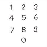 Riunisca il numero illustrazione vettoriale