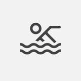 Riunisca l'icona, l'illustrazione di logo di vettore, pittogramma isolato su bianco royalty illustrazione gratis
