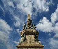 Rius i taulet monument at barcelona. Stock Photo