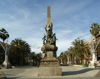Rius i taulet monument at barcelona. Royalty Free Stock Images