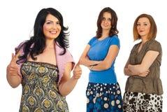 Riuscita amicizia casuale delle donne Immagini Stock
