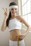 Riuscita dieta! Fotografie Stock