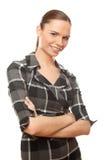 Riuscita donna di affari del ritratto immagini stock libere da diritti