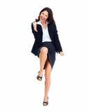 Riuscita donna felice di affari. Immagine Stock Libera da Diritti