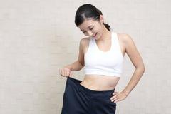 Riuscita donna sulla dieta Immagine Stock Libera da Diritti