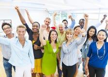 Riuscita gente di affari che celebra Fotografia Stock Libera da Diritti