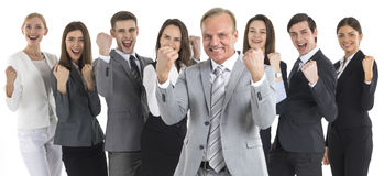Riuscita gente di affari emozionante Immagini Stock Libere da Diritti