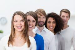 Riuscita giovane squadra di affari Fotografie Stock Libere da Diritti