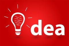Riuscita idea luminosa di una persona intelligente Immagine Stock