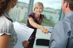 Riuscita intervista di job Immagini Stock Libere da Diritti