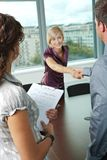 Riuscita intervista di job fotografie stock libere da diritti