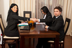 Riuscita intervista di job Fotografia Stock