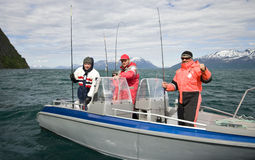 Riuscita pesca in Norvegia fotografia stock