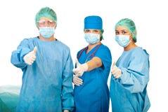 Riuscita squadra di chirurghi Fotografia Stock Libera da Diritti