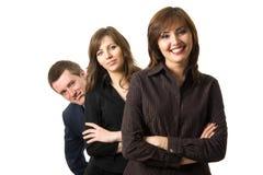 Riuscita squadra felice di affari. Fotografie Stock Libere da Diritti