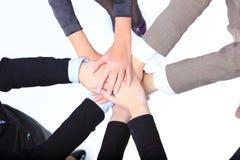 riuscite donne di affari con le loro mani fotografie stock libere da diritti