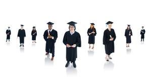 Riusciti studenti di laurea Multi-etnici Fotografie Stock