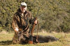 Riuscito cacciatore Fotografia Stock