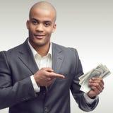 Riuscito giovane uomo d'affari africano Immagini Stock