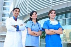 Riuscito gruppo di medici Immagini Stock