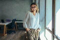 Riuscito imprenditore femminile fotografia stock