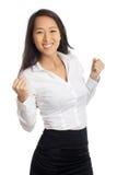 Riuscito incoraggiare asiatico della donna fotografia stock libera da diritti