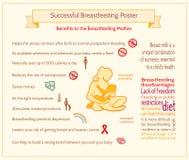 Riuscito manifesto di allattamento al seno Immagini Stock