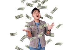 Riuscito maschio asiatico felice Immagine Stock