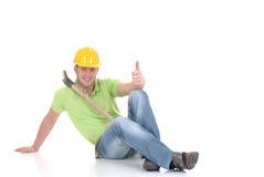 Riuscito operaio di costruzione Fotografia Stock Libera da Diritti
