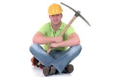 Riuscito operaio di costruzione Immagine Stock Libera da Diritti