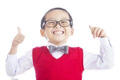 Riuscito scolaro asiatico Fotografie Stock