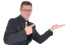 Riuscito uomo d'affari di pubblicità Fotografia Stock Libera da Diritti