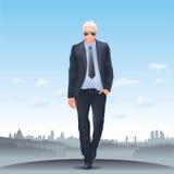 Riuscito uomo d'affari - orizzonte di Londra Fotografia Stock Libera da Diritti
